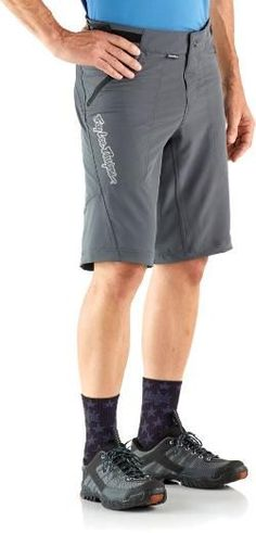"Troy Lee Designs Men's Skyline Solid Bike Shorts 12.5"" Inseam Concrete 38"