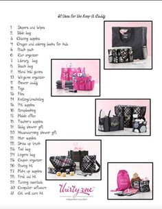 31 ways to use a keep it caddy!!  Get yours FREE when you host a OCTOBER 2013 party!  It's so easy to host a party!  and you get amazing rewards!  October dates have gone fast and only have a couple left!!  Get yours TODAY!!!  mythirtyone.com/acapps31