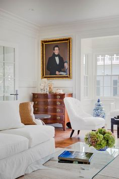 Browse the exterior and interior images of Morse Street Compound, a restored 1800's Greek Revival cottage located within the Edgartown Village Historic District. The property includes the main home, a detached carriage house, and extensive outdoor living spaces including a pool area and pool cabana.
