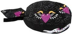 2014 Zan Headgear Highway Honey's Motorcycle Gear Hearts & Wings Flydanna