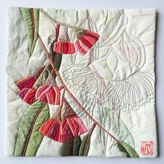 Eucalyptus Excerpt 18 by Ruth de Vos Quilting Projects, Quilting Designs, Sewing Projects, Sewing Ideas, Fabric Art, Fabric Crafts, Sewing Crafts, Textile Sculpture, Textile Art