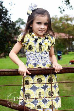 Sweet Sunflower Hetty Dress by WildflowerChildWear on Etsy, $30.00