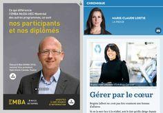 Gérer par le cœur - La Presse+ Gera, Business Plan Layout, Chamber Of Commerce, Organizational Chart, Human Resources, Entrepreneurship