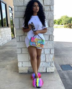 Image may contain: 1 person, standing, shoes and outdoor Cute Swag Outfits, Dope Outfits, Trendy Outfits, Girl Outfits, Summer Outfits, Black Outfits, Fashion Killa, Ootd Fashion, Girl Fashion