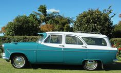 Side view of Mk II Ford Zephyr Estate in New Zealand Ford Zephyr, Station Wagon Cars, Custom Classic Cars, Shooting Brake, Commercial Vehicle, Mk1, Side View, Old Cars, Vintage Cars