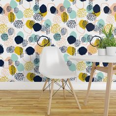 Painting Wallpaper, Wallpaper Roll, Peel And Stick Wallpaper, Florida Wallpaper, Mint And Navy, Drawer And Shelf Liners, Colorful Wallpaper, Wallpaper Ideas, Diy Hanging