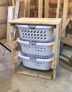 Laundry Basket Dresser: maybe put doors on it to conceal it and keep it organized. Need a good laundry hamper! #organizedhouse #buildingadeck #RepurposedFurniture