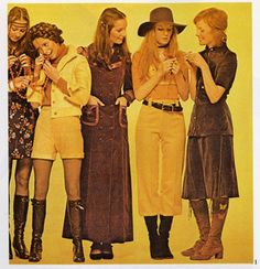 1970's Women's Fashion, Courtesy of Wikipedia Commons