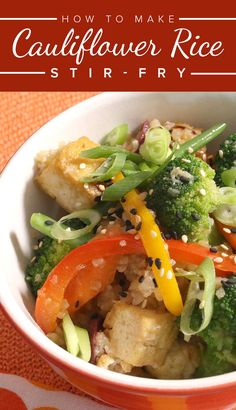 Low-carb, low-sugar and low-maintenance. Replacing traditional rice with cauliflower rice in your stir-fry is a no-brainer. Slow Cooker Recipes, Low Carb Recipes, Healthy Recipes, Healthy Foods, Cooking 101, Cooking Recipes, Healthy Brunch, Asian Recipes, Ethnic Recipes
