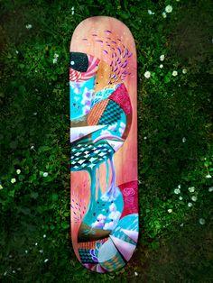 Pandora skatedeck painting by Meghan Geliza  #painting #popsurrealism #acrylics #colour #Auckland #NewZealand