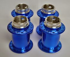 Candy Blue Powder Coated Bicycle Hubs
