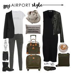 """My Airport Style -Europe 2017"" by sunslem on Polyvore featuring Acne Studios, J Brand, Brunello Cucinelli, MANGO, Bric's, Paige Denim, Birkenstock, STELLA McCARTNEY, Fiorentini + Baker and Barneys New York"