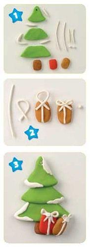 елка - Мастер-классы по украшению тортов Cake Decorating Tutorials (How To's) Tortas Paso a Paso