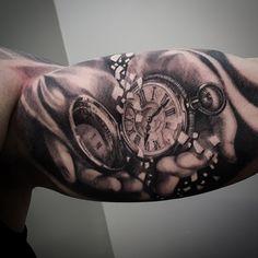Soular Tattoo Christchurch New Zealand - Tattoo and Airbrush Studio Key Tattoos, Watch Tattoos, Skull Tattoos, Foot Tattoos, Sleeve Tattoos, Tatoos, Tatoo Biceps, Inner Bicep Tattoo, Arm Tattoo