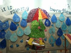 It is Raining Display, classroom display, rain, mae hi'n bwrw glaw Teaching Displays, Class Displays, School Displays, Photo Displays, Classroom Display Boards, Classroom Displays, Bulletin Boards, Weather Display, Weather Activities