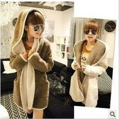 Fashion women's cartoon coat hooded sweater woman jacket coat women clothes-in Basic Jackets from Apparel & Accessories on Aliexpress.com