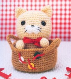 ...Fazendo Crochê...: Gatinho - Amigurumi