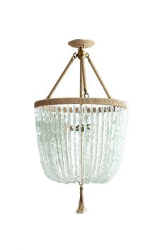 Malibu | Southern style with a beachy edge. Loving this chandelier by Charleston-based Ro Sham Beaux. | Ro Sham Beaux