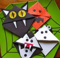 Ideias Giras: Ideias Giras para o Halloween - marcadores de pági...