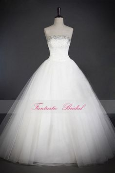 2014 Gorgeous Lace Wedding dress,White strapless Bridal gown,Sleeveless,Elegant A-line Wedding dress,Custom-made Brush Train wedding dress on Etsy, £143.38