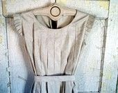 Linen hand made dress with ruffles by bayou salvage. They make beautiful clothes.