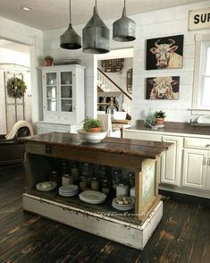Awesome 67 Adorable Rustic Farmhouse Kitchen Design Ideas. More at https://trendecorist.com/2018/02/21/67-adorable-rustic-farmhouse-kitchen-design-ideas/