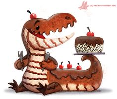 Daily Paint #1142. Chocodile by Cryptid-Creations.deviantart.com on @DeviantArt