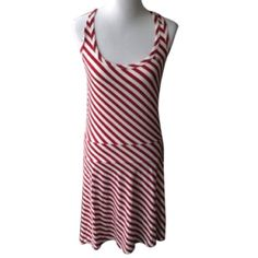 """Lacoste Striped Dress Never worn adorable Lacoste red stripe dress.  Size 40.  Lying flat, measures approximately 15.5"""" from pit to pit and 35"""" from top to bottom.  No trades.   ⛄️Limited time bundle sale!⛄️ Lacoste Dresses"""