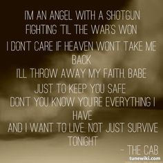 """Angel With A Shotgun"" by The Cab #lyrics"
