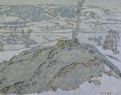 David Milne (Canadian, The Orchard, Mount Riga, Oil on canvas, 16 x 20 in. Canadian Painters, Canadian Artists, David Milne, Franklin Carmichael, Tom Thomson, Emily Carr, Edward Hopper, American Art, Painting & Drawing