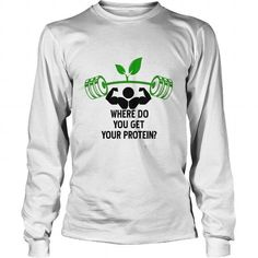 fitness, workout, vegan, Plant and Protein LIMITED TIME ONLY. ORDER NOW if you like, Item Not Sold Anywhere Else. Amazing for you or gift for your family members and your friends. Thank you! #vegan #shirts