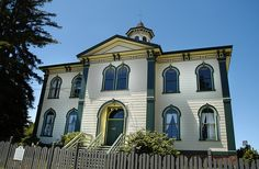 Bodega Bay School House. Bodega Bay, California. You know we will be making a stop at The Tides Restaurant too.
