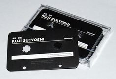 It's not cool enough that your business card is die cut to look like a cassette tape. Carry them around in an old cassette case. Now that's cooler!