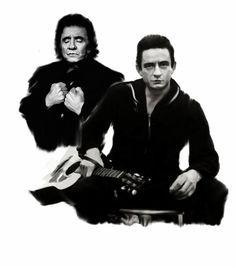 Resurrection Johnny Cash, drawn by Dave Pucciarelli