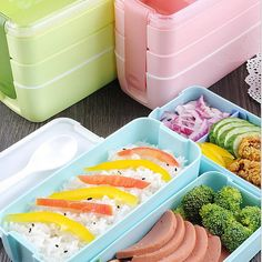 Urijk 900ml Portable 3 Layers Healthy Food Container Microwave Oven Lunch Bento Box Lunchbox Bento Box. Click visit to buy #dinnerware