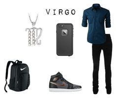 """""""virgo"""" by mongooseareboss on Polyvore featuring AMIRI, NIKE, LE3NO, OtterBox, men's fashion and menswear"""