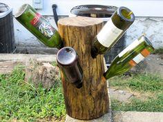 Driftwood wine rack