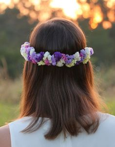 Media corona de flores Vedra en Oh' Meri