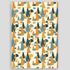 Image of Camping wrapping paper