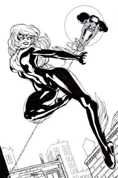 Ed McGuinness Art | Ed McGuinness' Black Cat & Spidey, inked by me