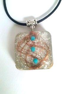 Orgonite pendant-Magic-silver by ORGONITHEKA on Etsy