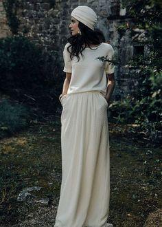 turbante, abito di Laure de Sagazan