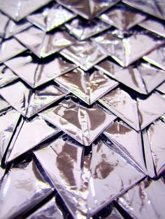 Origami Textiles Design using folded foil to create pattern & texture - fabric manipulation; reflective surfaces // Libby Stanion