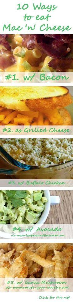 10 Ways to Eat Mac  Cheese -- Ideas 1-5