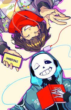 Undertale ~ Sans x Frisk Sans E Frisk, Sans X Frisk Comic, Undertale Love, Undertale Fanart, Undertale Comic, Underfell Sans X Frisk, Frans Undertale, Alien Drawings, Anime Outfits