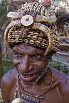 * Men from Sepik, the largest river of Papua New Guinea,