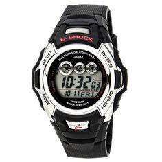 Casio GWM500A-1 Men's G-Shock Tough Solar Atomic Grey Dial Black Rubber Strap Alarm Digital Dive Watch