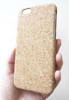 "Apple iPhone 6 6s 4.7"" Eco-Friendly Natural Wood Cork Phone Cover Smartphone Cellular Mobile Snap On Hard Shell Case"