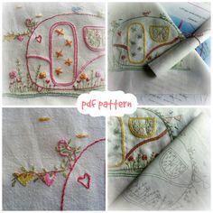 my caravan hand embroidery pattern pdf von LiliPopo auf Etsy