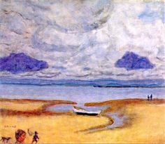 """Beach at low tide"" by Pierre Bonnard, 1920"